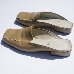 SOLD Vintage Italian leather mules